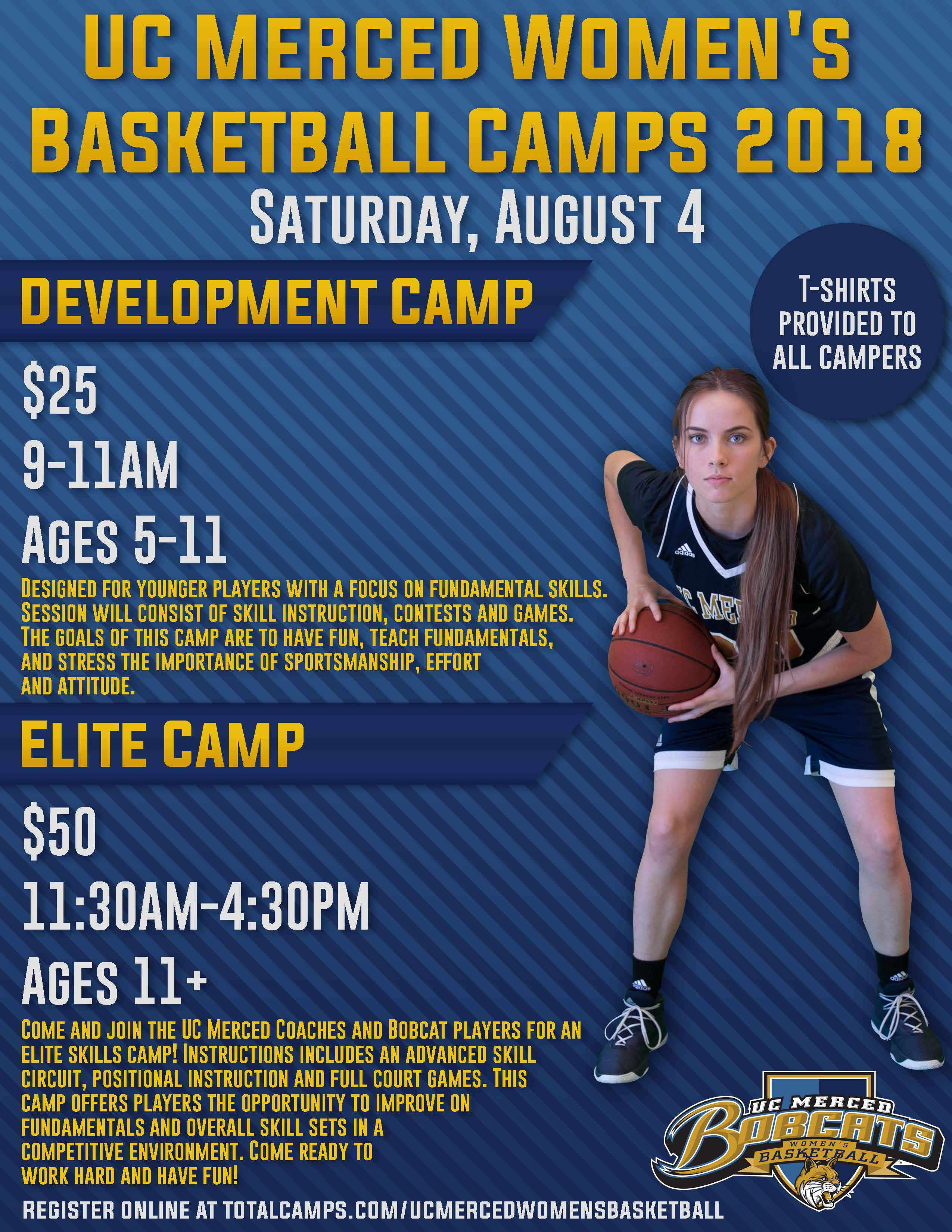 UC Merced Women's Basketball Camps